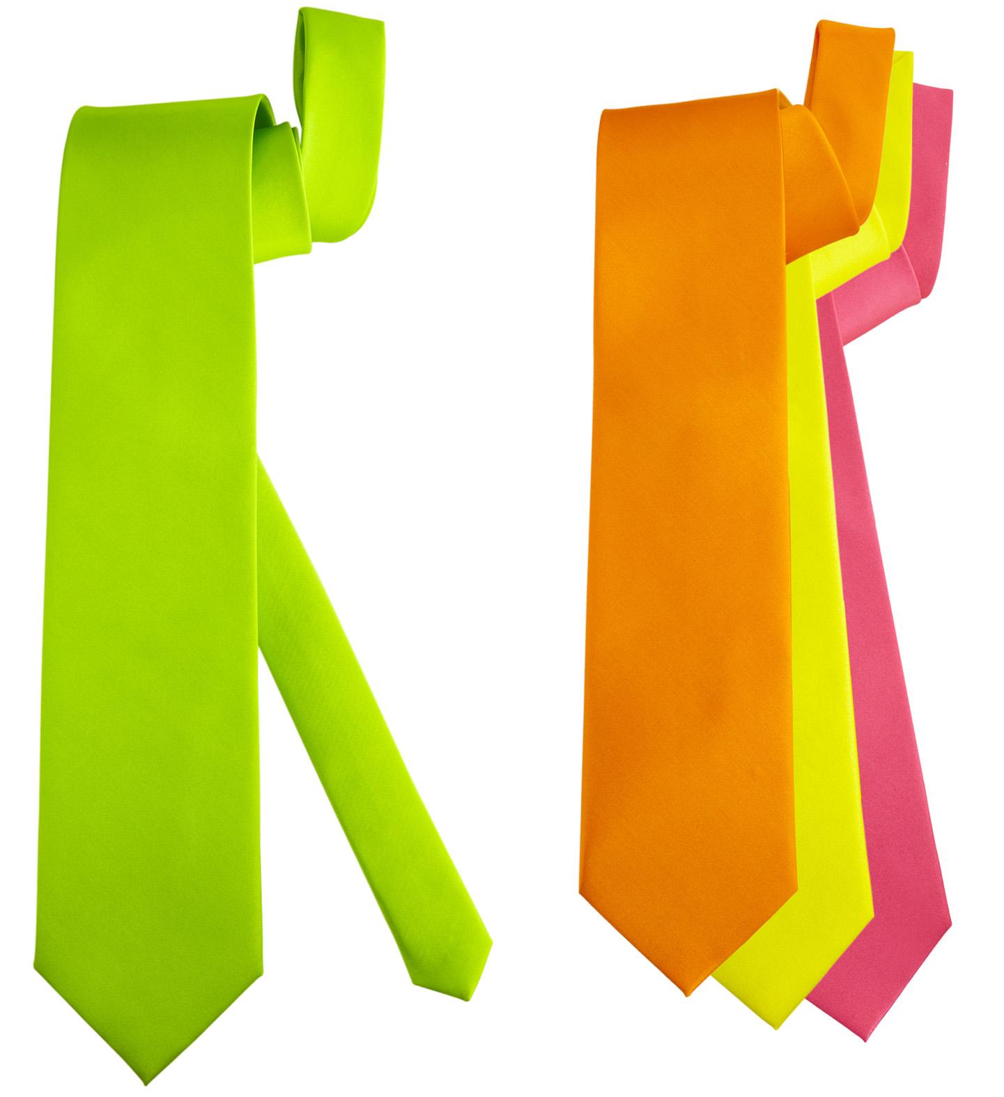 cravate fluo verte