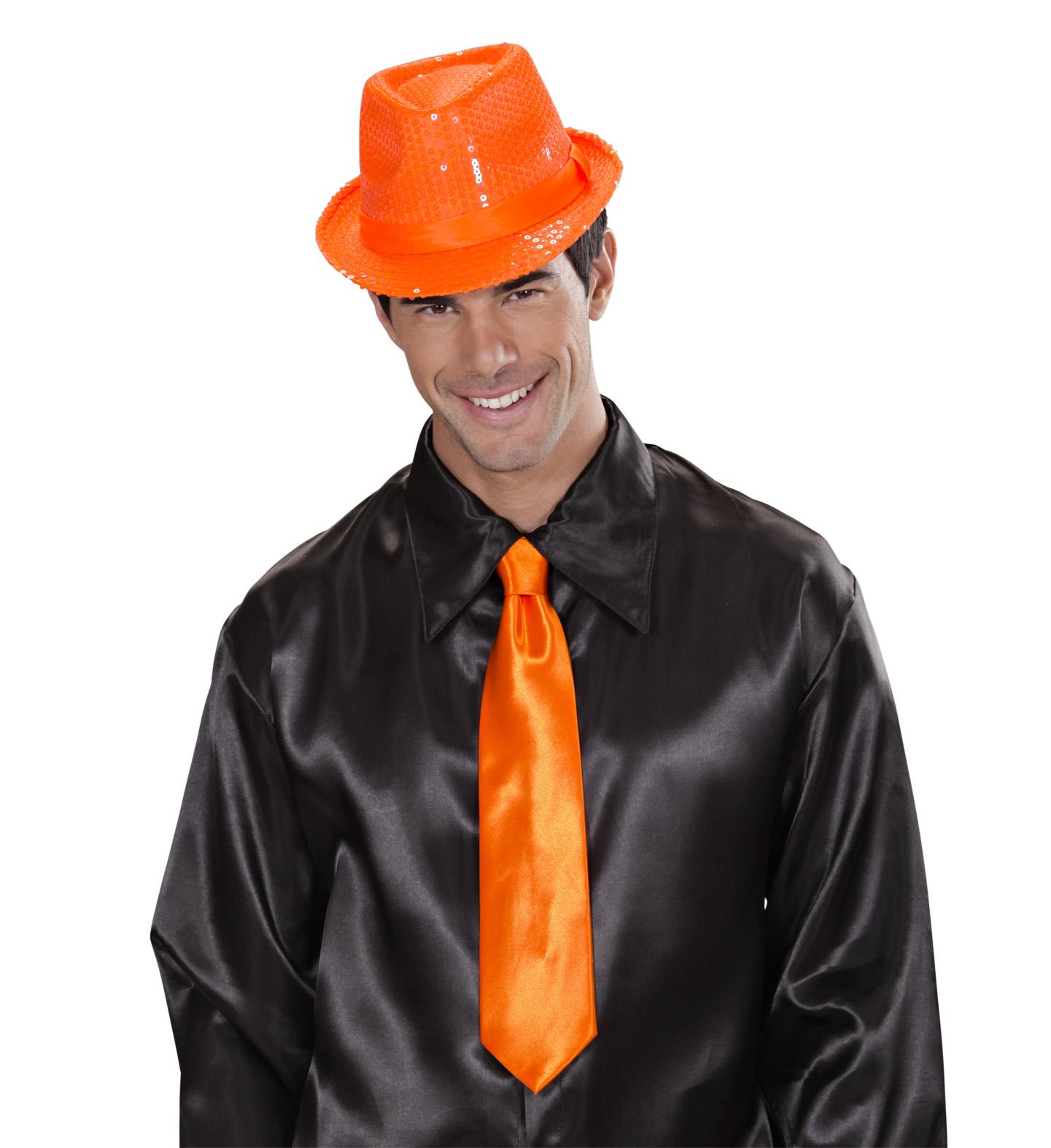 cravate fluo orange