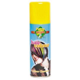bombe laque cheveux jaune