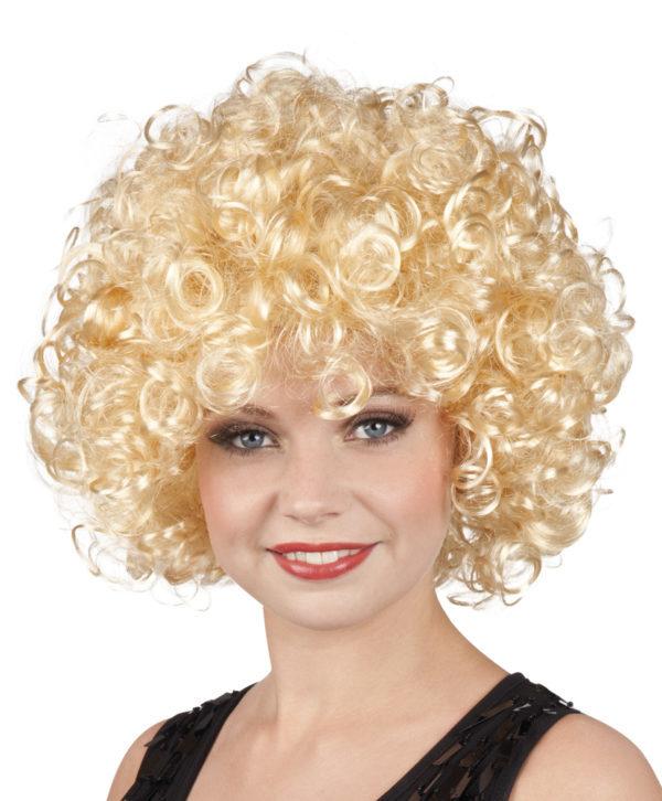 Perruque blonde frisée Disco - Cameleon