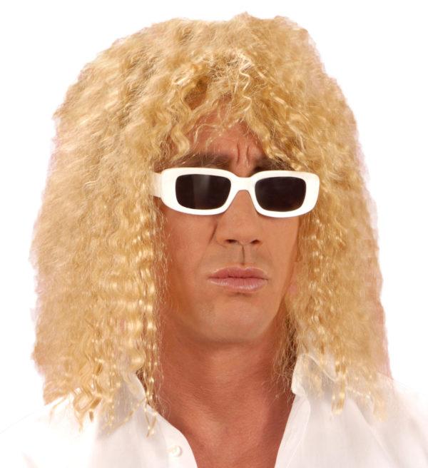 Perruque blonde longue frisée Star 80