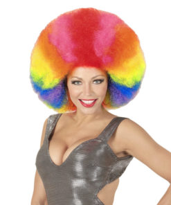 perruque afro multicolore